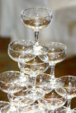 Glasses. For champagne ceremony Stock Images
