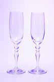 Glasses. High glasses are used for champagne Stock Image