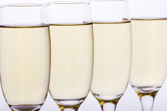 Glasses. Some glasses of wine, beer or champagne Royalty Free Stock Photography