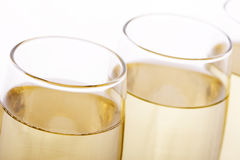 Glasses. Some glasses of wine, beer or champagne Royalty Free Stock Photo