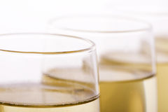 Glasses. Some glasses of wine, beer or champagne Stock Photography