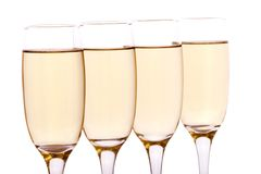 Glasses. Some glasses of wine, beer or champagne Stock Image