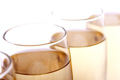 Glasses. Some glasses of wine, beer or champagne Royalty Free Stock Image