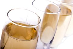 Glasses. Some glasses of wine, beer or champagne Royalty Free Stock Images