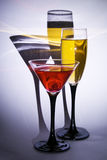 Glasses. Two glasses with alcohol drinks Royalty Free Stock Photo