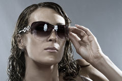 In glasses Royalty Free Stock Photos