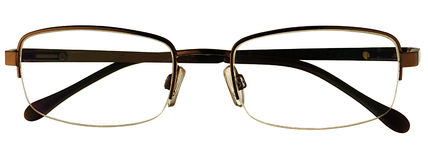 Glasses. On a white background. Business scene Royalty Free Stock Images