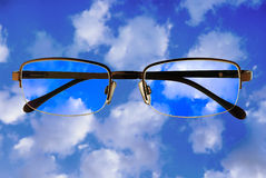 Glasses. On a white background. Business scene Royalty Free Stock Image