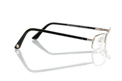 Glasses. Isolated on white background, with reflection Stock Image