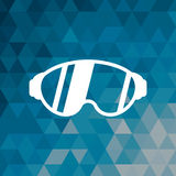 Glasses accessory sport winter blue abstract background. Vector illustration eps 10 Stock Photography