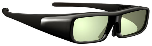 Glasses with active shutter 3D technology for HDTV. Illustration of glasses with active shutter 3D technology for HDTV royalty free illustration
