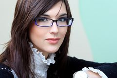 Glasses advertising Stock Photo