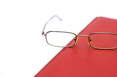 Glasses on agenda Stock Photography