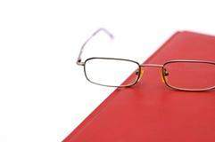 Glasses on agenda stock photography