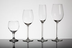 Glasses for alcohol Royalty Free Stock Images