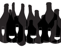 Glasses alcohol background Stock Images