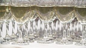 Glasses With Alcohol stock footage