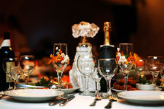 Glasses of alcohol a holiday Royalty Free Stock Photography