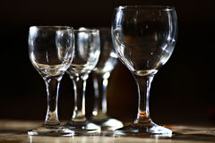 Glasses of alcohol a holiday Royalty Free Stock Images