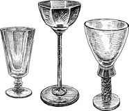 Glasses of alcohol royalty free illustration