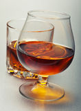 Glasses of alcohol whiskey Stock Photography