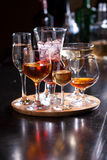 Glasses of alcohol Royalty Free Stock Photo