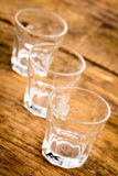 Glasses for alcoholic beverage Stock Photography