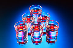 Glasses with an alcoholic drink Royalty Free Stock Image