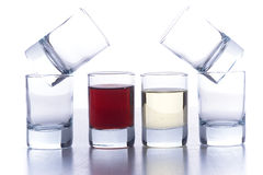 Glasses for alcoholic drinks Royalty Free Stock Photo