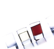 Glasses for alcoholic drinks Stock Photos