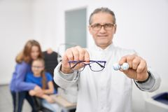 Free Glasses And Lens For Better Vision In Optical Store Stock Images - 160832584