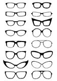 Glasses And Sunglasses Silhouettes Stock Image