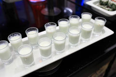 Glasses of ayran Royalty Free Stock Photo