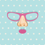 Glasses background Royalty Free Stock Images