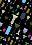 colorful Glasses background Royalty Free Stock Photography