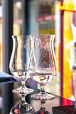 Glasses on the bar counter Royalty Free Stock Photo