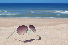 Glasses on the beach. Stock Photography