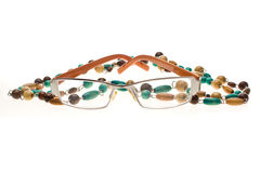 Glasses and Beads Royalty Free Stock Photo