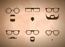 Glasses And Beards Royalty Free Stock Photos