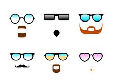 Glasses And Beards Royalty Free Stock Images