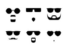 Glasses And Beards Stock Images