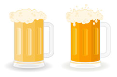 Glasses with a beer. Glasses with a light beer Stock Photos