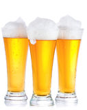 Glasses with beer Royalty Free Stock Photo