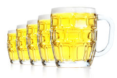 Glasses with beer. On a white background Royalty Free Stock Image