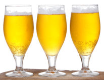 Glasses with beer Royalty Free Stock Images