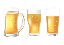 Glasses of beer Stock Photo