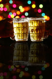 Glasses of beer. In a party Royalty Free Stock Photos