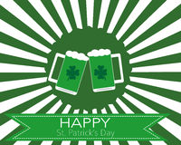 The glasses of beer to celebrate St. Patrick's Day Royalty Free Stock Images