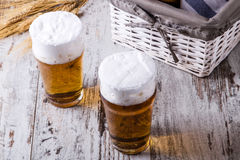 Glasses of beer Royalty Free Stock Photography