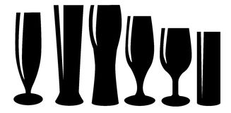 Glasses of beer. Vector illustration Stock Photos